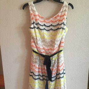 Trina Turk size 14 scalloped dress